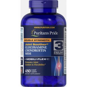 Puritan's Pride, Double Strength Glucosamine, Chondroitin & MSM Joint Soother, 480