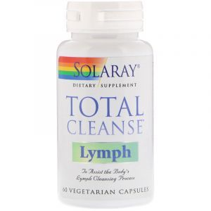 Детоксикация лимфы, Total Cleanse Lymph, Solaray, 60 вегетарианских капсул