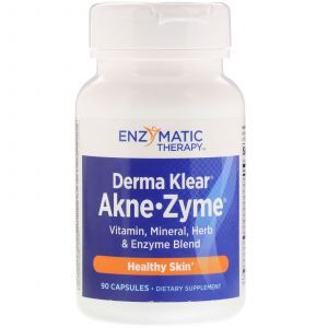 Лечение акне, Derma Klear Akne, Enzymatic Therapy (Nature's Way), 90 капсул (Default)