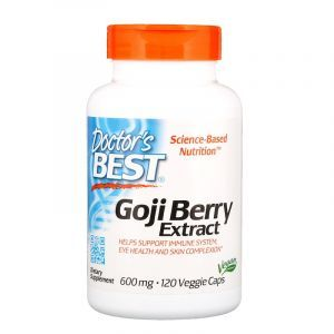 Экстракт Годжи, Goji Berry, Doctor's Best, 600 мг, 120 капсул (Default)