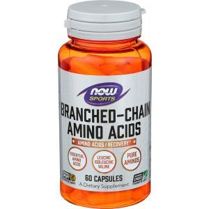 BCAA амино спорт, Branched Chain Amino, Now Foods, 60 капсул