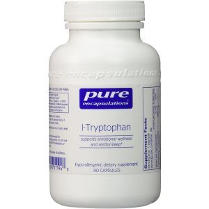 L-триптофан, l-Tryptophan, Pure Encapsulations, 90 капсул