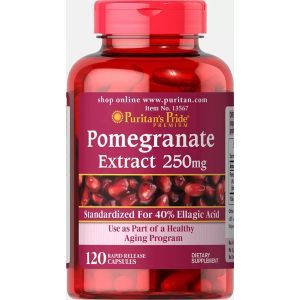 Гранат, экстракт, Pomegranate Extract, Puritan's Pride, 250 мг, 60 капсул