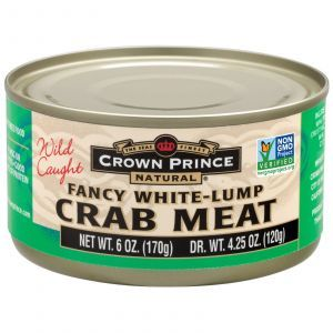 Крабовое мясо, Crab Meat, Crown Prince Natural, 170 г