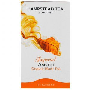 Черный чай Ассам, Organic Black Tea, Hampstead Tea, 20 саше, 40 г