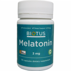 Мелатонин, Melatonin, Biotus, 3 мг, 30 капсул