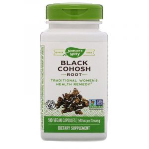 Клопогон (Цимицифуга), Black Cohosh, Nature's Way, корень, 540 мг, 180 капсул